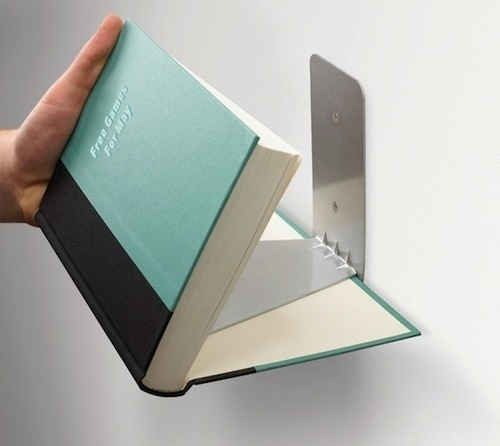 CJWHO ™ (Invisible Bookshelf For an ultra minimal look,...) #design #books #interiors #ideas #minimal #invisible #clever #bookshelf