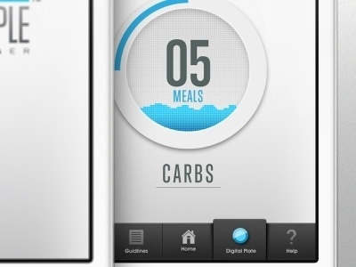 Dribbble - My Digital Plate Fix by Adam Deutsch #iphone #app #interface
