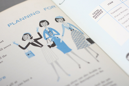 Starting with Sterling circa 1959 #modern #color #two #illustration #mid #century #booklet