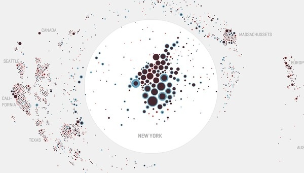 Map your moves byMoritz Stefaner #moritz #interactive #infographics #map #datavis #bars #arcs #stefaner