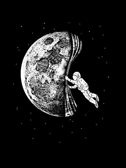 The night has come #astronaut #space #illustration #art #funny #moon
