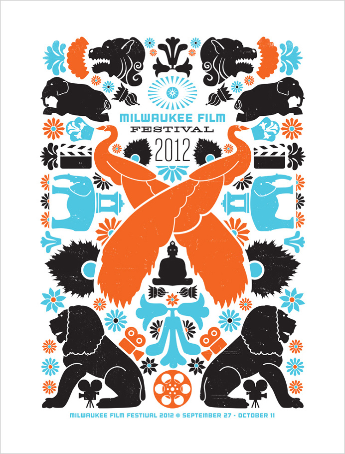 Poster design for 2012 Milwaukee Film Festival. #milwaukee #milwaukeefilm #orientaltheatre #illustration