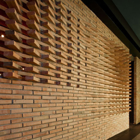 Dude Cigar Bar by Studiomake #brick #masonry #interiors #architecture