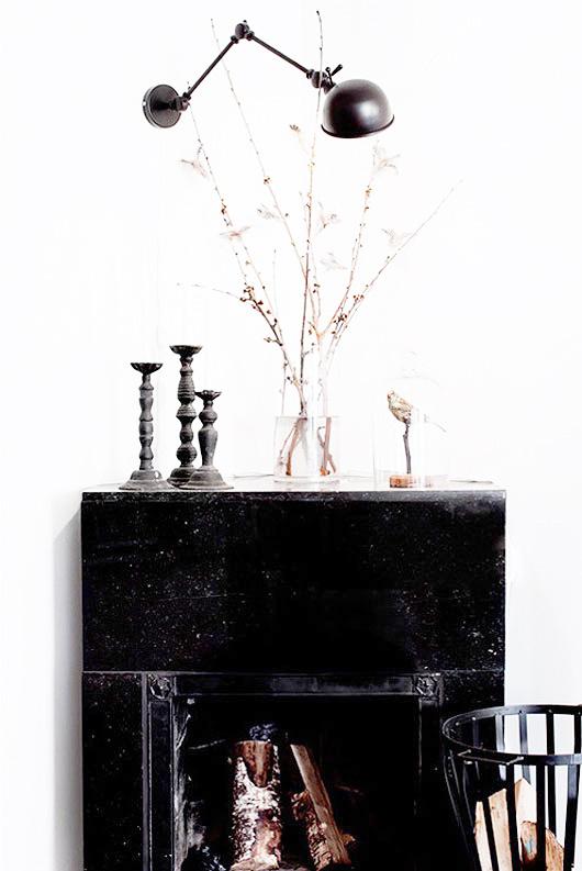 black fireplace mantel #interior #design #decor #deco #decoration
