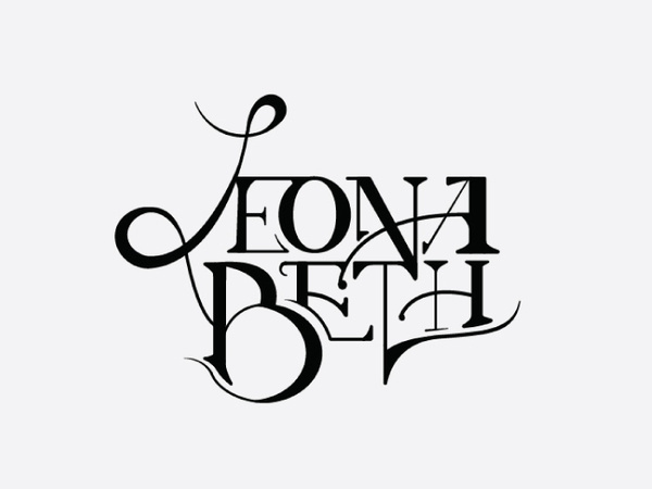 Art Nouveau Typography Logo In Illustration
