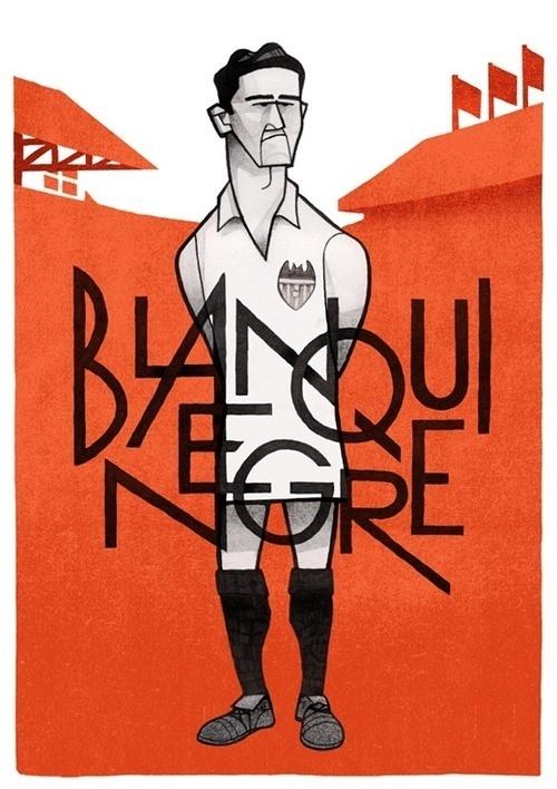 Blanquinegre by Jorge Lawerta #golf #illustration #orange