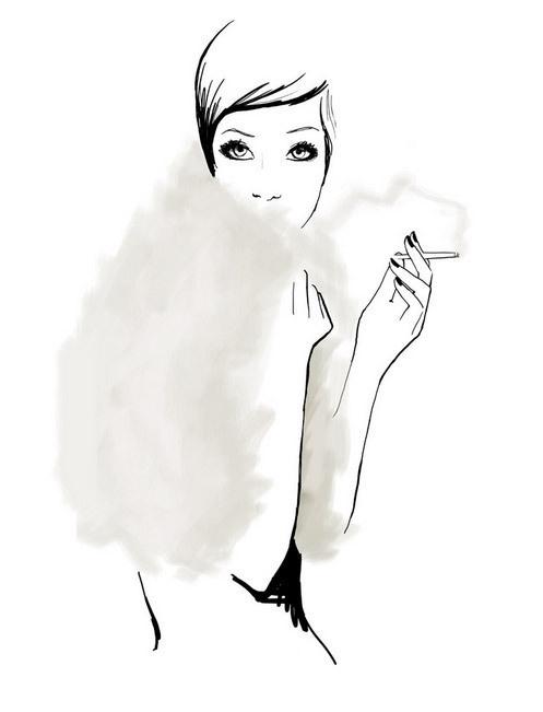 Illustration by Garance Doré #marker #glamour #illustration #soft #fashion