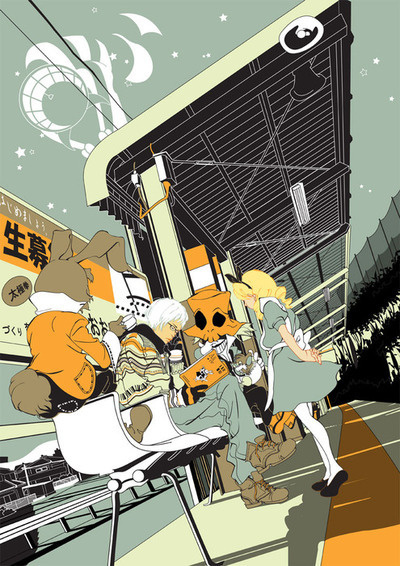 Baubauhaus. #illustration #wonderland #alice