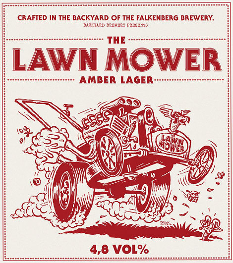 Lawn Mower Amber Lager Poster #beer #poster