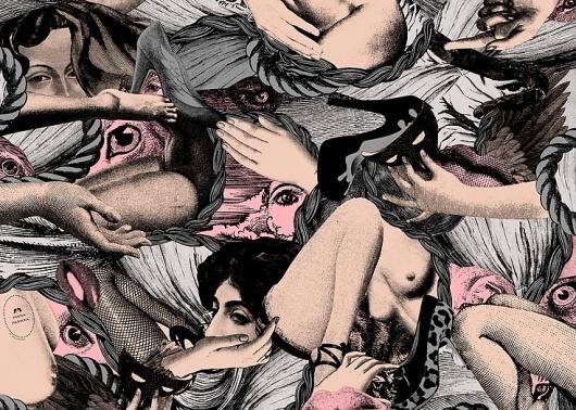Tsto | Minna Parikka Scarves #pattern #design #graphic #illustration #collage