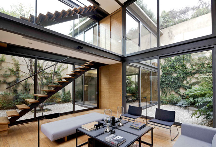Urban Home with Character-Defining Four Courtyards - architecture, house, house design, dream home, #architecture
