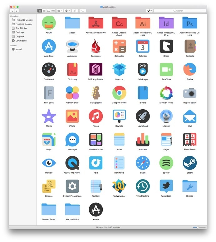 "Alex Griendling on Twitter: ""Mac icon set is still coming along. It's taking a while since I find more things to fix with every test run. ht #griendling #alex"