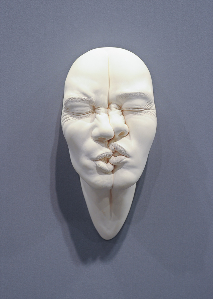 face, squashed, mask, sculpture