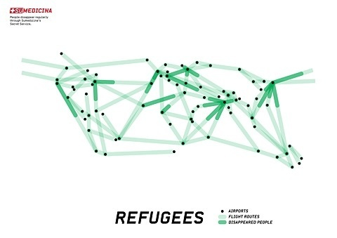 FFFFOUND! #intersections #lines #black #dots #connection #refugees #green
