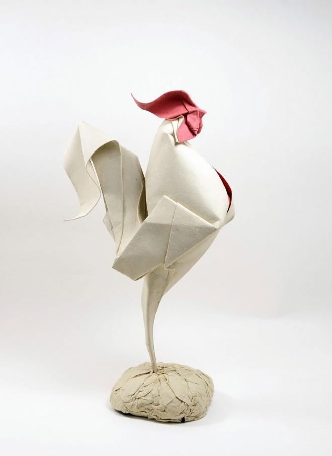 folding, paper, origami #hen