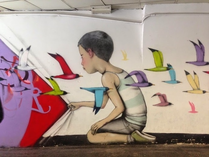 New Whimsical and Colorful Murals by Seth Globepainter #art #street