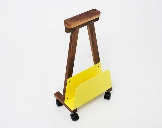 árbol | Blog #yellow #wood #furniture #minimal #arm #rest