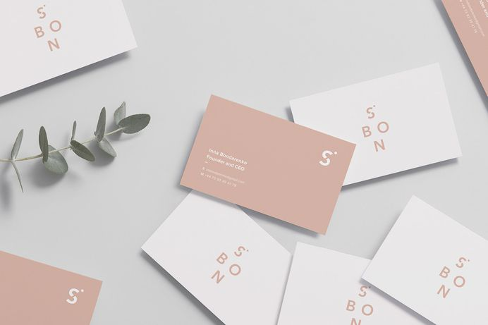 Lidia Mínguez designed a feminine, minimalist and modern brand identity for S.Bon, a London-based clothing brand that produces timeless wardrobe staples made of premium fabrics. For more of the most beautiful designs visit mindsparklemag.com