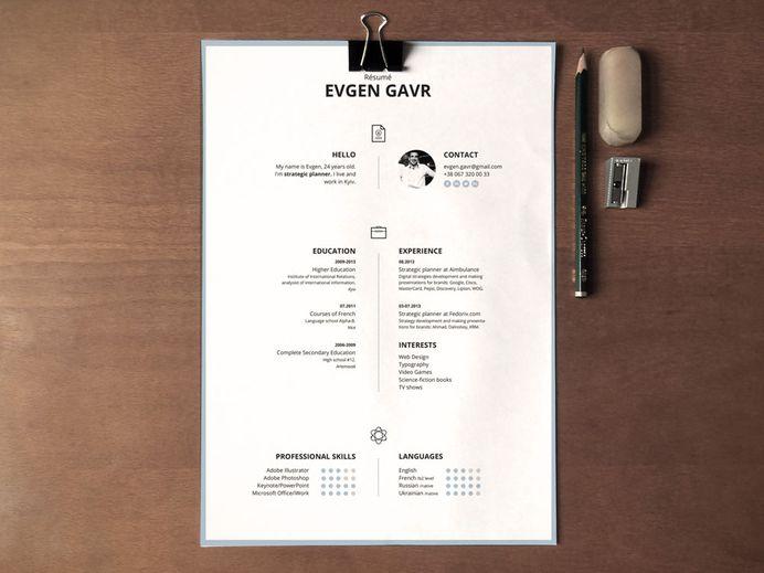 Laconique CV Template - Free Simple CV template with Clean Design