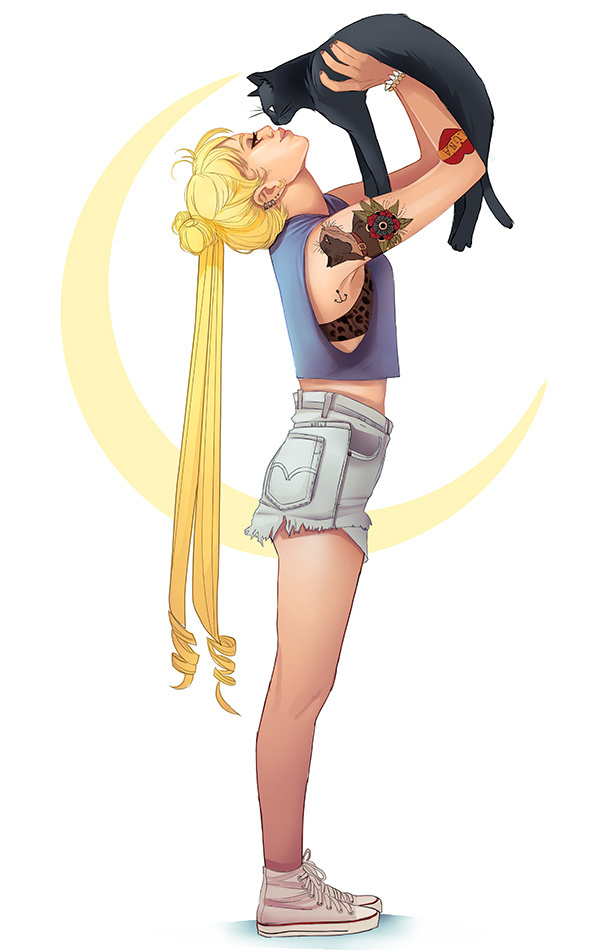 Usagi and Luna by mannequin-atelier #illustration #design #character