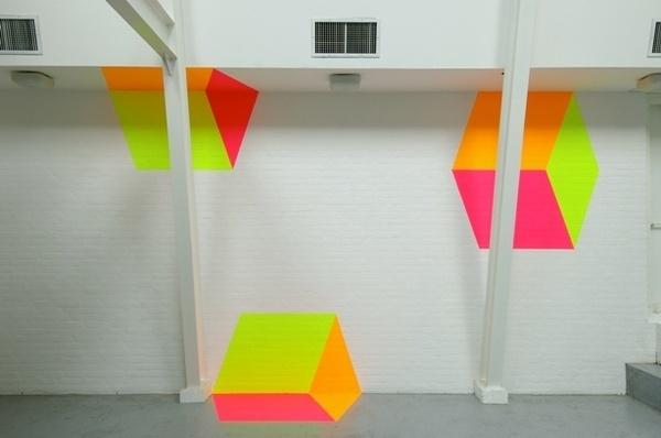 Cubes #color #cubes #art #neon