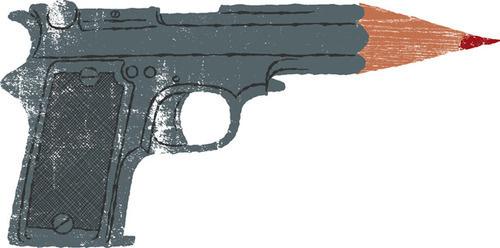 image #gun #illustration #pencil