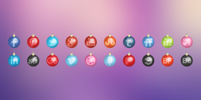 Christmas Toys Social Media Icons Set #toys #year #social #icons #set #christmas #media #new