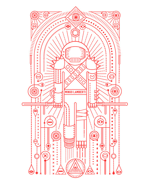 Mingo Lamberti, by Radio #inspiration #creative #red #astronaut #design #graphic #illustration