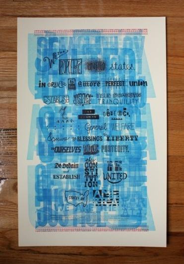 Amanda Buck We the People #america #letterpress #poster