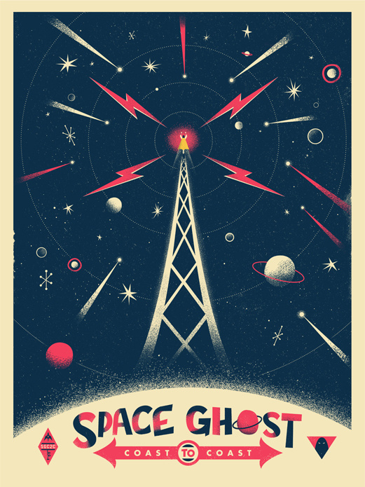 SPACE GHOST - Christopher Monro DeLorenzo #illustration #color