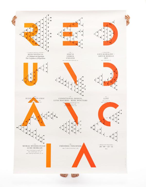 Redundância on Behance #type #pattern #poster #gradient