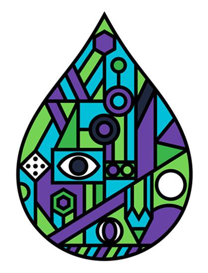 Onesidezero Illustration : Geometric #bold #shapes #geometric #brett #outlines #onesidezero #drop #minimal #wilkinson