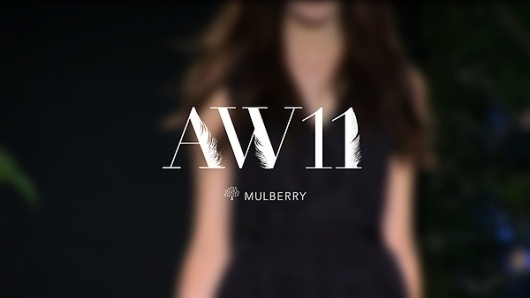 Mulberry - Autumn / Winter 2011 typography on the Behance Network #typography