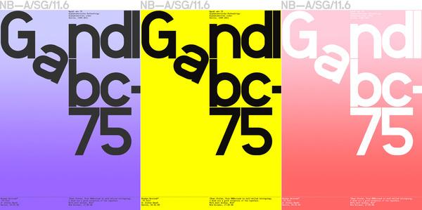 Gandl Grotesk12 1 3 #grid #poster #typography