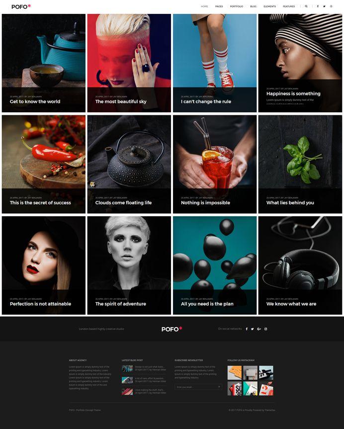 Pofo - #Creative #Portfolio and #Blog #WordPress Theme for #Personal #Blog by #ThemeZaa