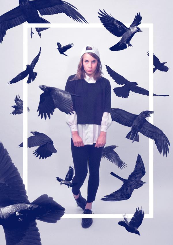 Queens on Behance by Quentin Deronzier #crows #birds #black #girl