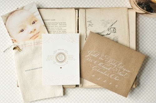 Google Reader (1) #calligraphy #design #vintage #announcement #baby