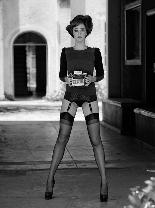 WHITE BLACK GREY, strangelycompelling: Model - Samantha King ... #camera #girl #greyscale