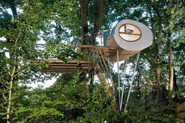 0-Wooden Treehouse On Oaks by Baumraum #cabin