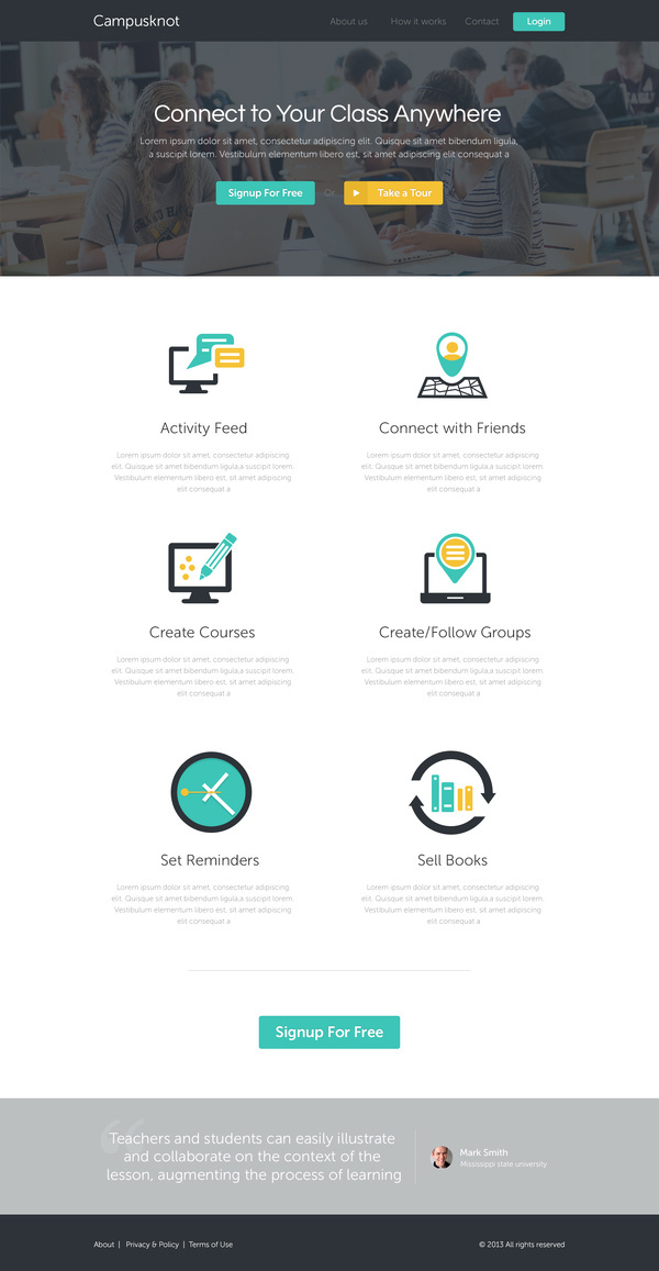 Best Homepage Design Campusknot Ux Ui images on Designspiration