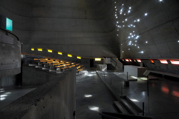 Firminy, 2008 Eglise Saint Pierre #interior #concrete #corbusier #architecture #le #light