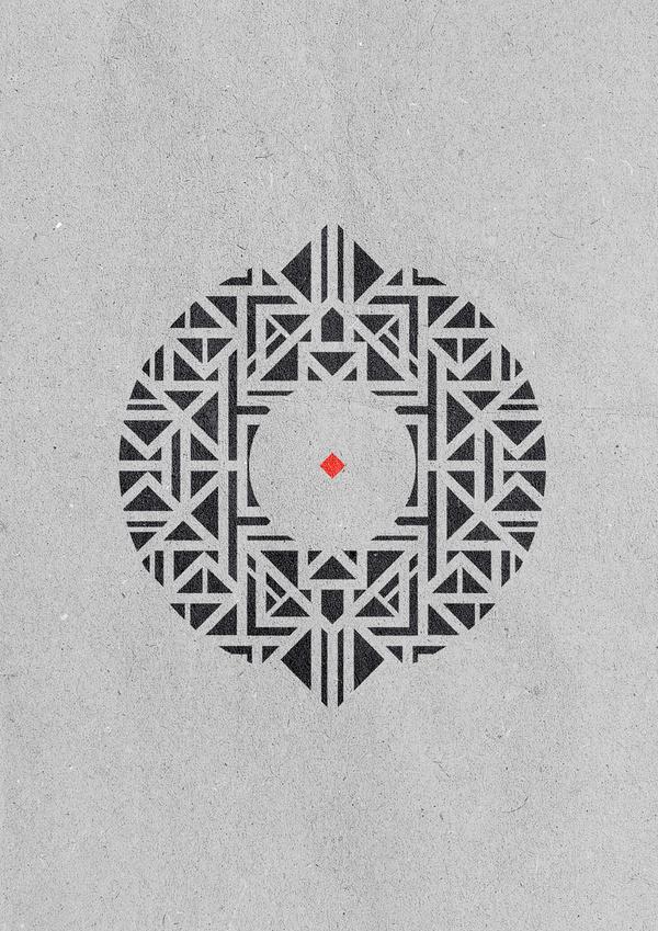 Geometric versions #imek1 #versions #geometry #design #tzaferos #geometric #blaqk #christos #posters #symmetry #greece #patterns #simek #athens