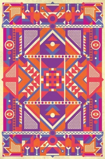Beat Up! Second Season on the Behance Network #colour #pattern