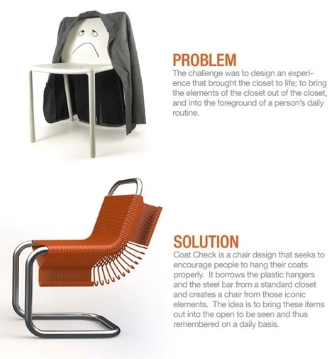 Core77 / industrial design magazine + resource / home #hangers #clothing #chair #design #clever