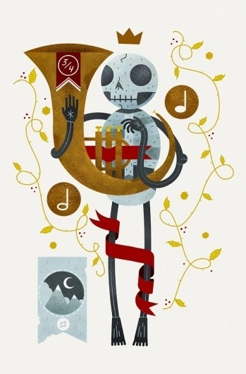 Scott Benson | The Black Harbor #illustration #skull