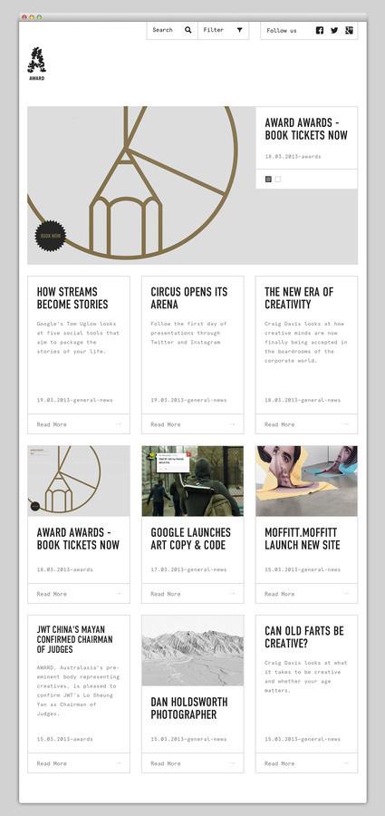 Award #website #layout #design #web