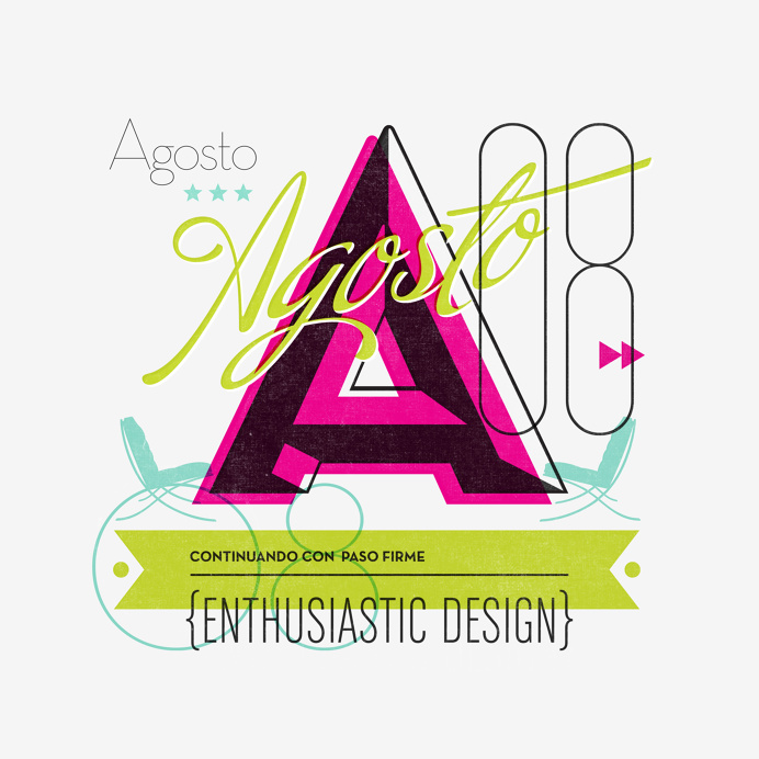 Calendar Page #typography #vector #a #print #illustration #calendar
