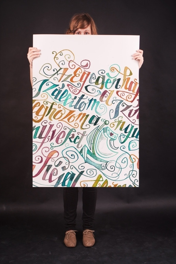 poems in calligraphy on the Behance Network #watercolor #lettering #poster #typography