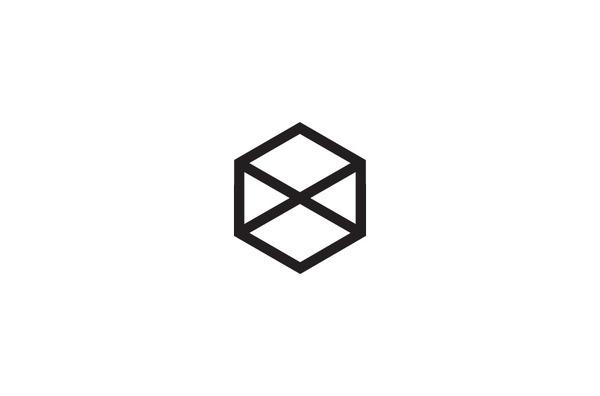 Mash Creative #white #cross #cube #black #triangle #minimal #logo #hexagon #prism