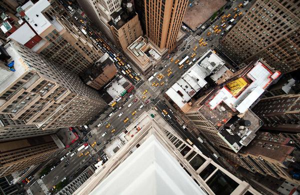 Navid Baraty #intersection #traffic #city #birds #eye #cars #taxi #view